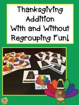 Thanksgiving Three Digit Addition Activity!