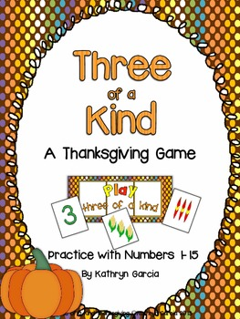 Numbers 1-15 Thanksgiving Practice FREE