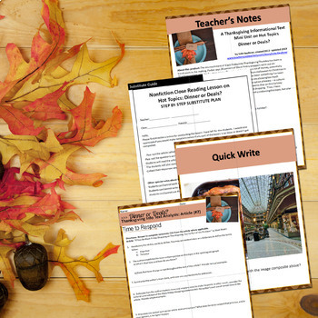 Thanksgiving Activities Nonfiction Lesson on Hot Topics: Black Friday