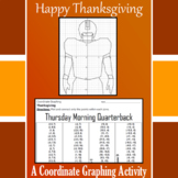 Thanksgiving - Thursday Morning Quarterback - A Coordinate Graphing Activity