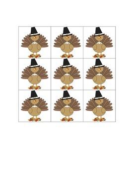 Thanksgiving Tic Tac Toe