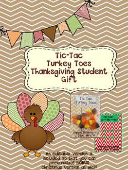 """Thanksgiving """"Tic-Tac Turkey Toes"""" Student Gift"""