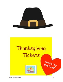 Thanksgiving Tickets!