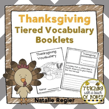 Thanksgiving Tiered Vocabulary Booklets
