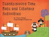 Thanksgiving Time Math and Literacy Activities