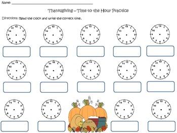 Thanksgiving Time Worksheet Bundles
