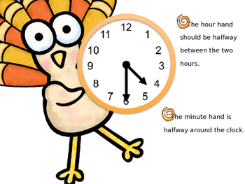 Thanksgiving Time to Hour and Half Hour