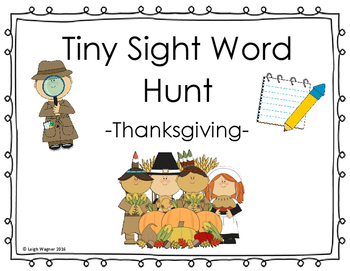 Thanksgiving Tiny Sight Word Hunt
