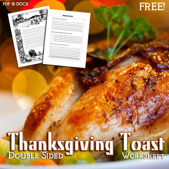Thanksgiving Toast Double-Sided Worksheet