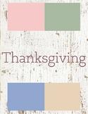 Thanksgiving Toddler Theme