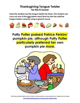 Thanksgiving and Autumn Tongue Twisters
