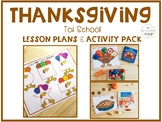 Thanksgiving Tot School: Lesson Plans and Activity Pack