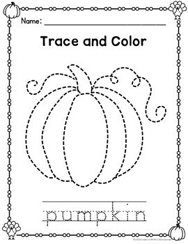 Thanksgiving Trace and Color Printables by Linda's Loft ...