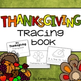 Thanksgiving Tracing Book
