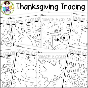Thanksgiving Tracing Pages ● Tracing Activity ● Pre-Writing ● NO Prep