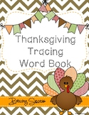 Thanksgiving Tracing Word Book