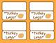 Thanksgiving Treat Bag Labels