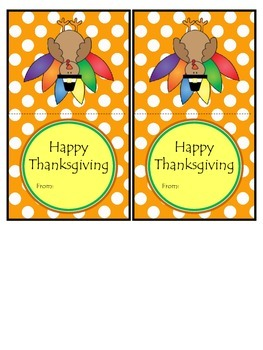 Thanksgiving Treat Bag Tags