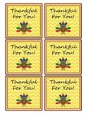 Thanksgiving Treat Bag Tags
