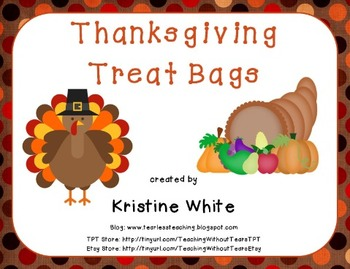 Thanksgiving Treat Bags - Bag Toppers
