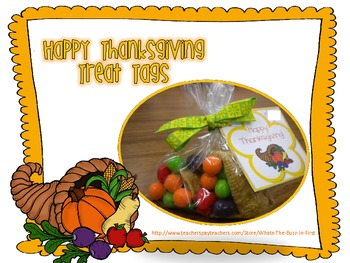 Thanksgiving Treat Tags for Staff or Students