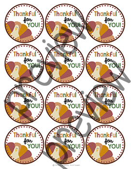 Thanksgiving Treat Tags