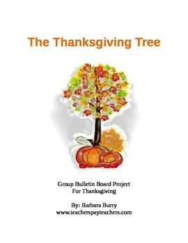Thanksgiving Tree bulletin board class project