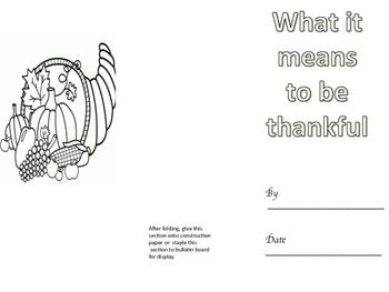 Thanksgiving Tri-fold