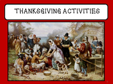 Thanksgiving Trivia and Activities