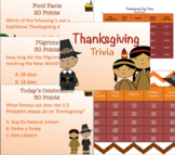 Thanksgiving Activity- Jeopardy