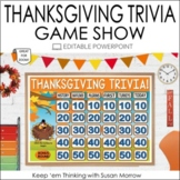 Thanksgiving Trivia Game:  Fun Jeopardy Style editable Pow