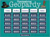 Thanksgiving Geopardy (a Jeopardy style game)