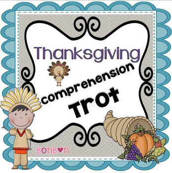 Thanksgiving Comprehension Task Card Scoot