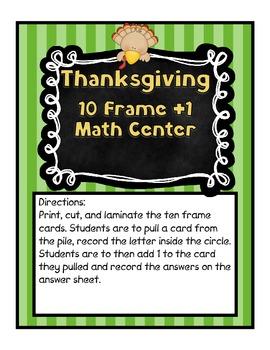Thanksgiving Turkey 10 Frame Center