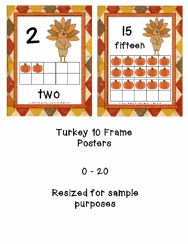 Thanksgiving Turkey 10-Frame Posters    0-20