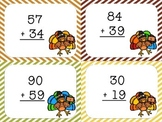 Thanksgiving Turkey 2, 3, and 4 Digit Addition with Regrou