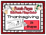 Thanksgiving - Turkey - 26 Shapes - Hole Punch Cards / Bin