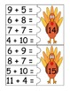 Thanksgiving Turkey Addition Puzzles (Sums 4-15)