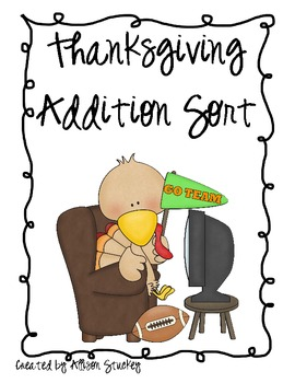 Thanksgiving Turkey Addition Sort