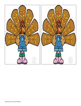 Thanksgiving Turkey Addition & Subtraction