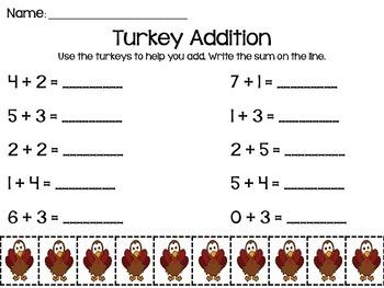 Thanksgiving Turkey Addition to 10