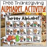 Thanksgiving Turkey Alphabet Activity FREEBIE