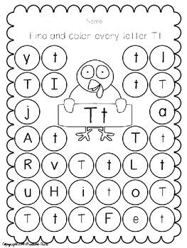 Thanksgiving Turkey Alphabet Freebie