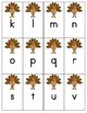Thanksgiving Turkey Alphabet Identification Game