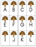 Thanksgiving Turkey Alphabet Identification Game
