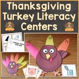 Thanksgiving Turkey Literacy (Alphabet, Phonics, CVC Words) Center (Common Core)