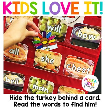 Thanksgiving Turkey Alphabet and Sight Word Game