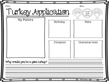 Thanksgiving Turkey Application! ONLY 99 cents!