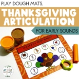Thanksgiving Turkey Articulation Play Dough Mats