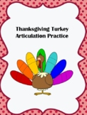 Thanksgiving Turkey Articulation Practice Initial R and R Blends